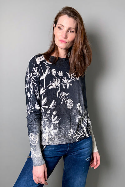 "HIGH ""Invent"" Pullover with Black Floral Print"