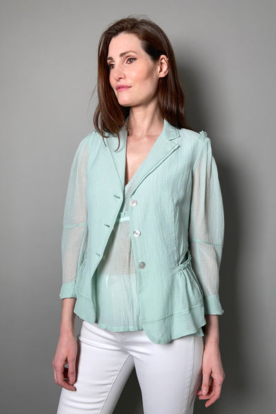 "HIGH ""Caprice"" Light Mint Blazer Cardigan"
