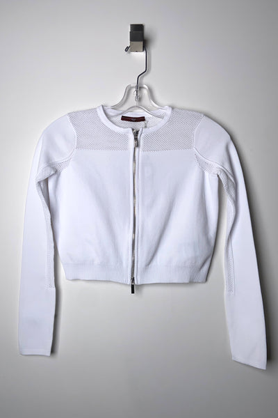 "HIGH White ""Empathize"" Cropped Cardigan"