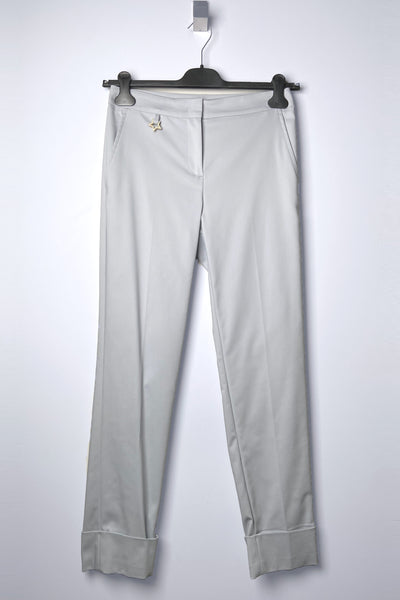 Lorena Antoniazzi Light Grey Cuffed Pants