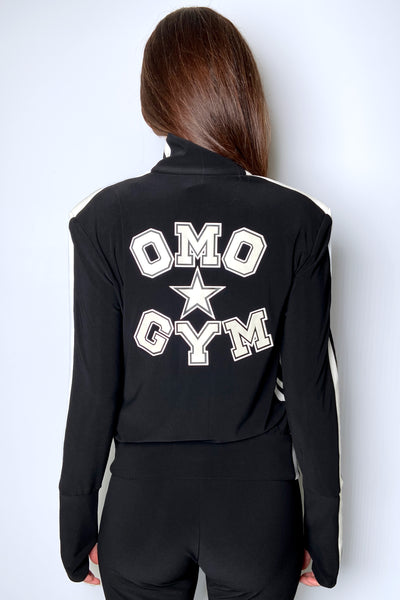 "Norma Kamali Black ""OMO GYM"" Jacket"