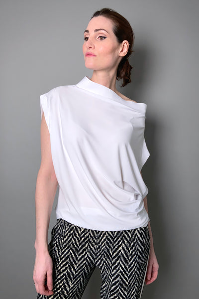 Norma Kamali White Sleeveless All In One Top