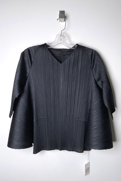 Pleats Please Black Antelope Top