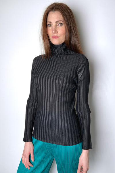 Pleats Please Black Turtleneck