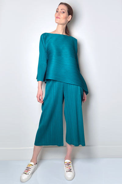 Pleats Please Green Vein Pants
