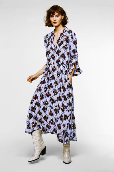 Dorothee Schumacher Periwinkle Abstract Flowers Dress