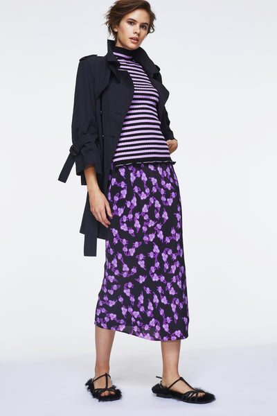 Dorothee Schumacher Black Leaf Print Skirt