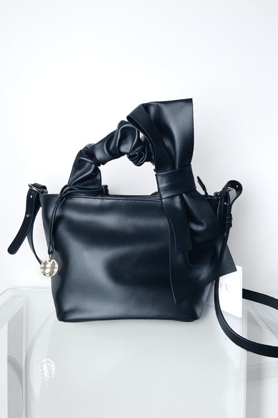 Red Valentino Black Purse With Bow Detail