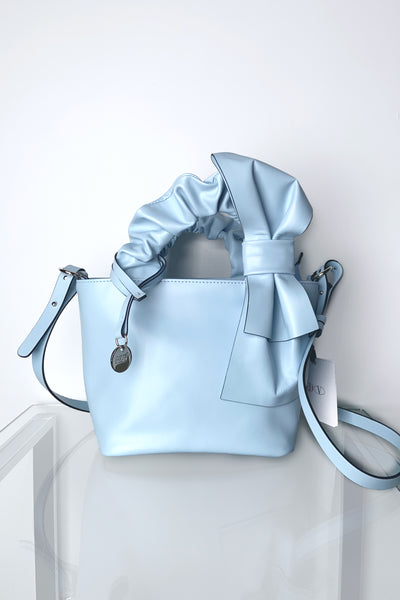 Red Valentino Light Blue Purse with Bow Detail