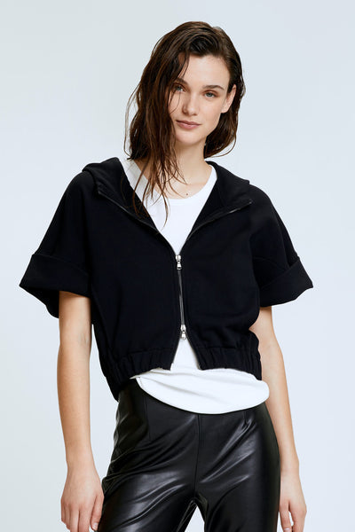 Dorothee Schumacher Black Casual Coolness Sweatshirt Jacket