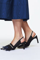 "Dorothee Schumacher ""Jazz It Up"" Pump with Feathers"