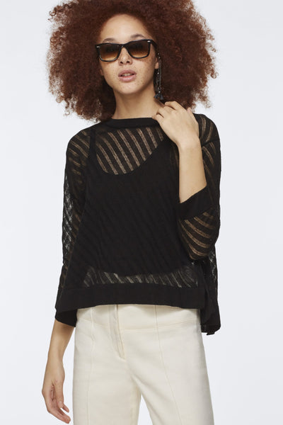 Dorothee Schumacher Black Transparent Top