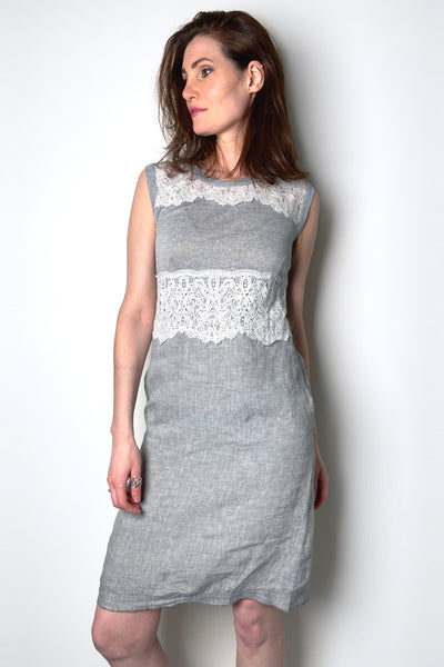 Tonet Linen and Lace Dress
