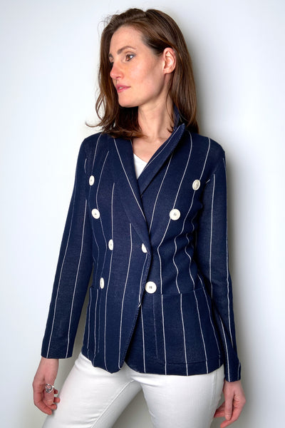 Tonet Knit Striped Blazer
