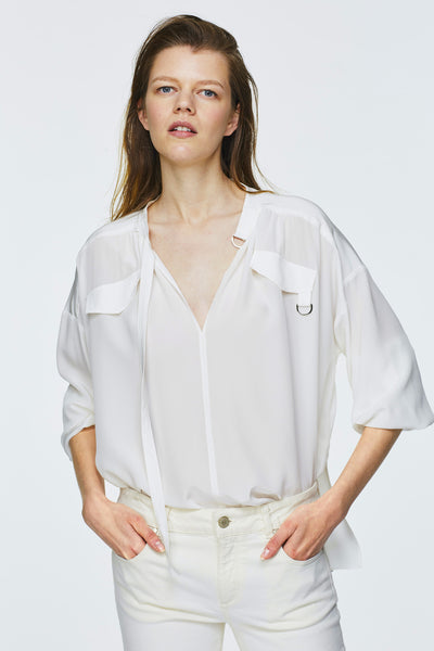 Dorothee Schumacher White Silk Blouse
