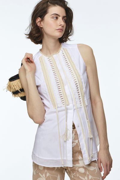 Dorothee Schumacher Sleeveless Cotton Boho Blouse