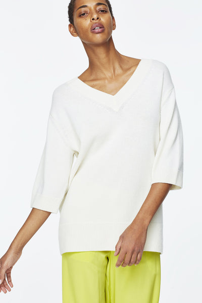 Dorothee Schumacher White V-Neck Tunic
