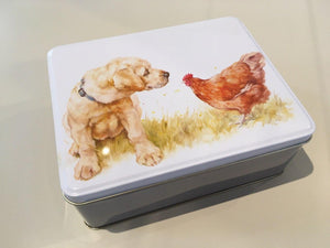 Dog & Chicken Bakery Tin Large