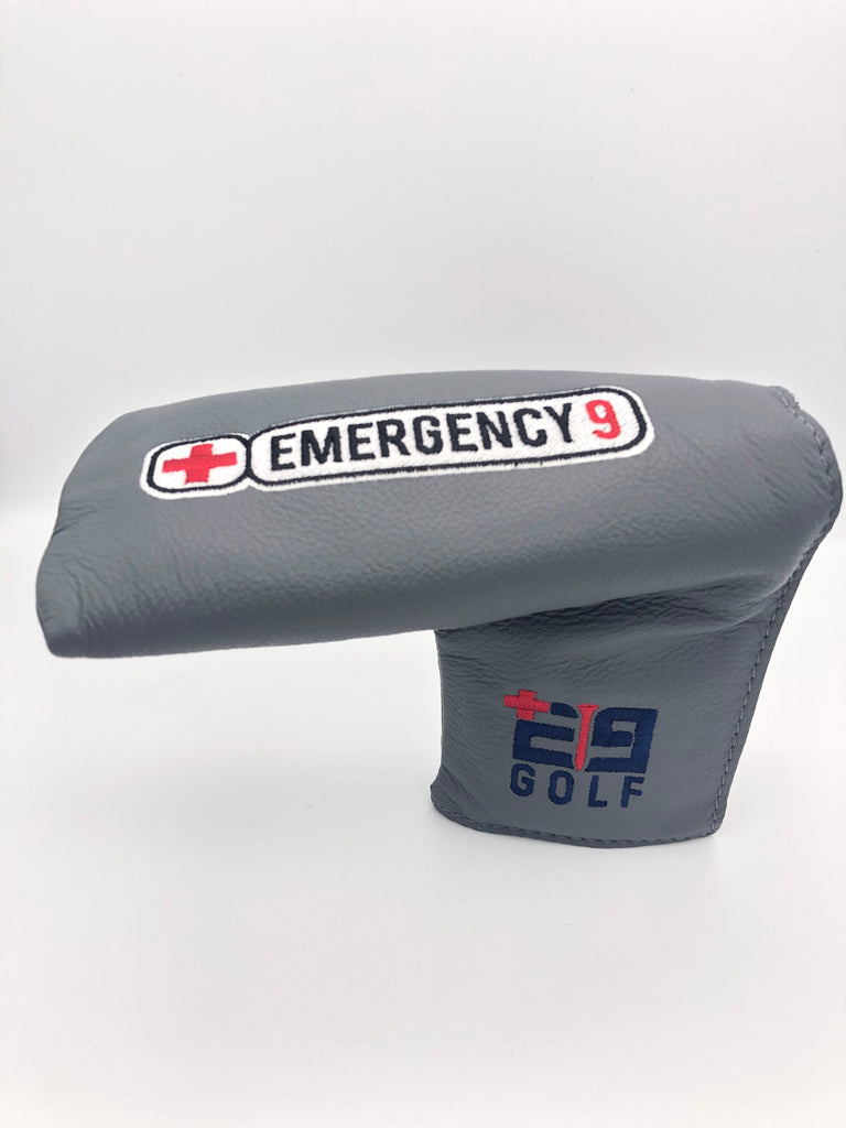 "E9golf x Winston Collection Blade Putter Cover - ""E9golf Patch"""