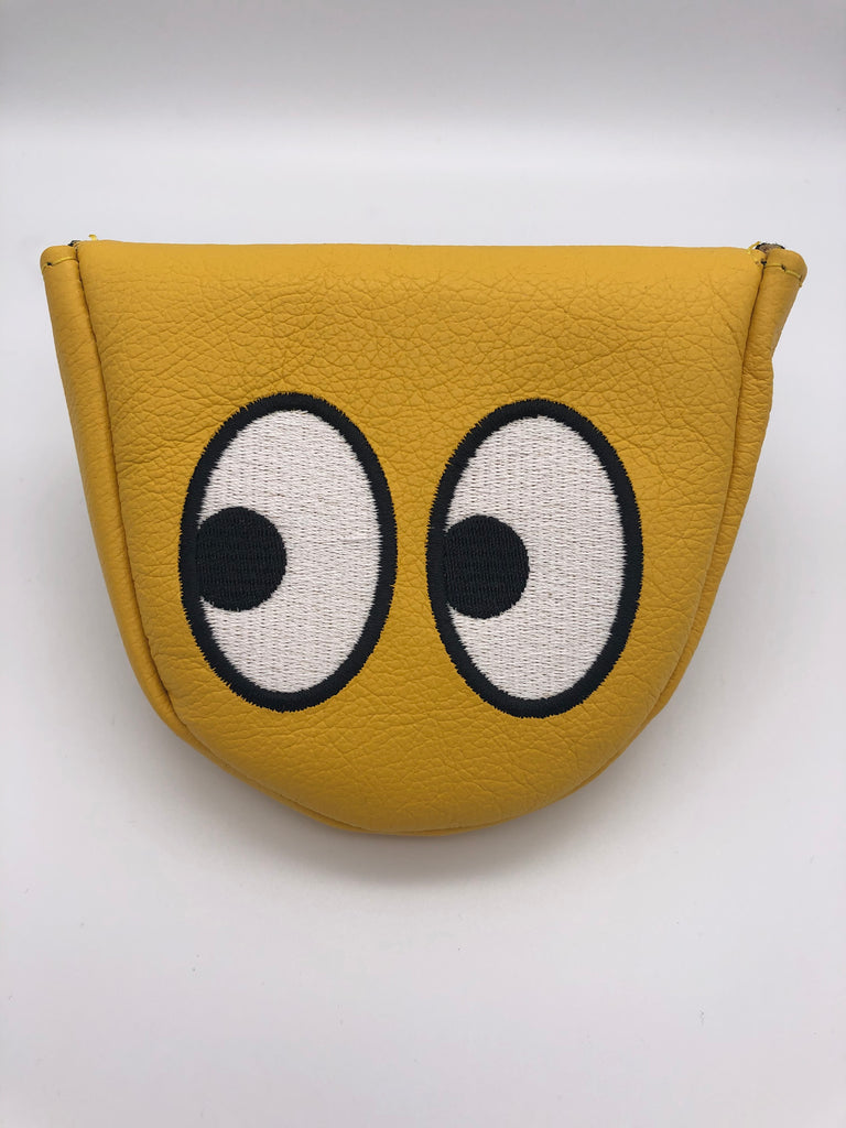 "E9golf x Winston Collection Mallet Putter Cover - ""Googly Eyes"""