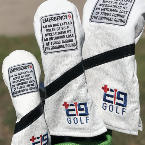 "E9golf x Cru Golf Leather Headcover - ""Define the E9"""