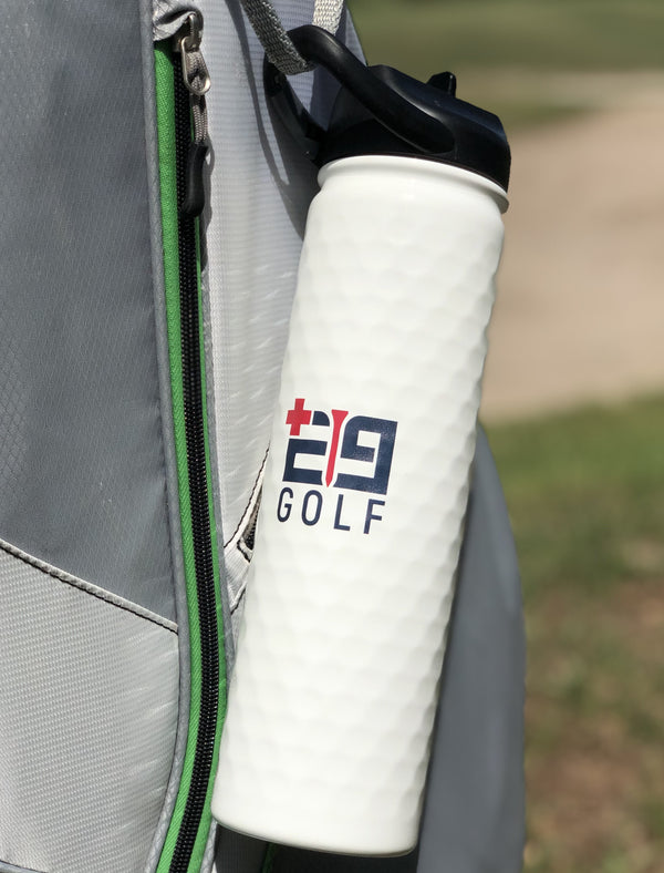 E9golf x SIC 27 oz. Insulated Water Bottle - Dimpled Golf