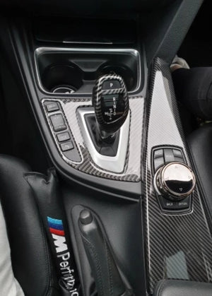 BMW Carbon Fiber Style Gear Knob Cover
