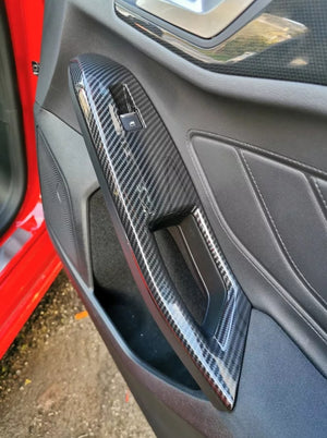 Carbon Fiber Style Window Control Frame Cover Ford Focus MK4 (2019+)