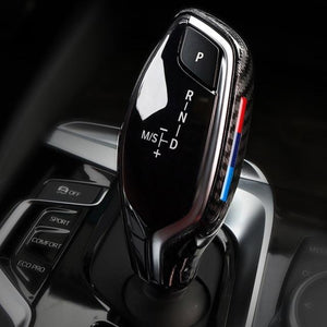 Carbon Fiber Gear Shift Knob Cover BMW 5/7 Series X3 X4 (2016+)