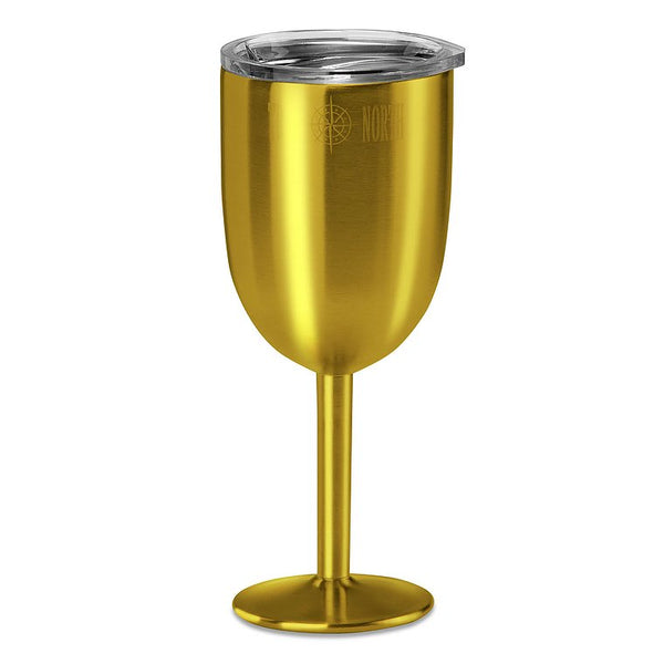 True North - Gold Wine Tumbler, 9 oz