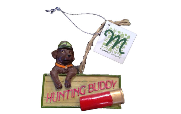 Lab Buddy Ornament  - Brown