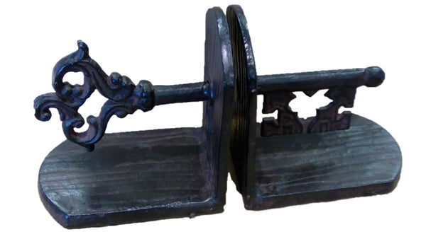 KEY BOOKEND CAST IRON