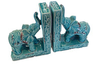 Elephant Bookend Pair (ceramic)