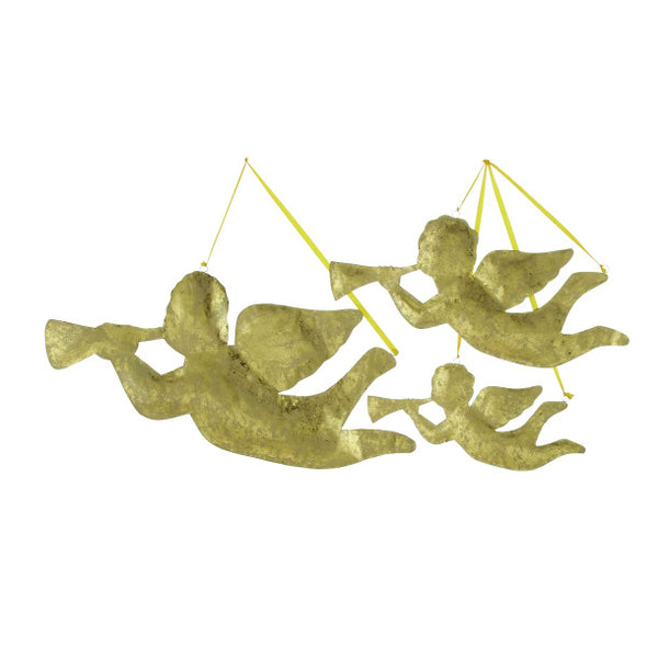 Gold Metal Christmas Angels (set of 3)