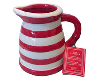 Small Pitcher - Red/White Stripes