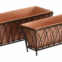 Rectangle Copper Planter (set of 2)