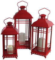 Medium Red Lantern (metal/glass)