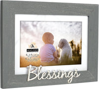 4x6/5x7 BLESSINGS Distressed Gray Frame