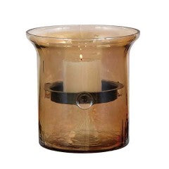 Glass & Metal Candle Holder