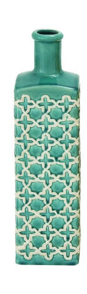 Ceramic Patterned Vase BLUE
