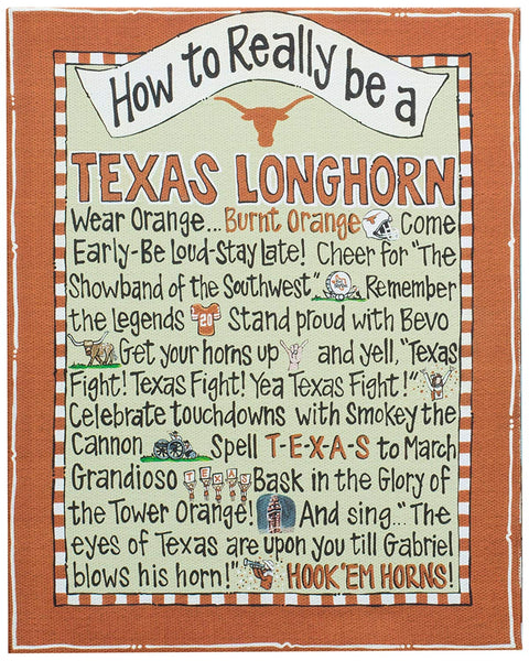 TEXAS LONGHORN Canvas Frame