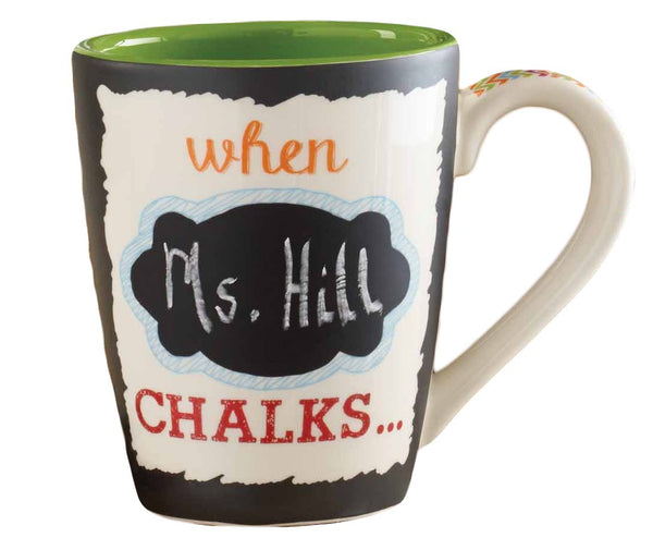 Chalkboard Mug - WHEN TEACHER CHALKS