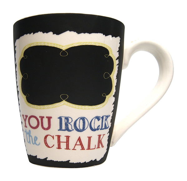 Chalkboard Mug - YOU ROCK THE CHALK