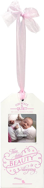 SLEEPING BEAUTY Pink Ribbon Door-hanger