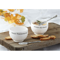 HAPPY THANKSGIVING Dip Cup Set