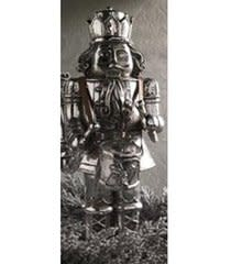 12 in Silver-plated Soldier Holding Drums