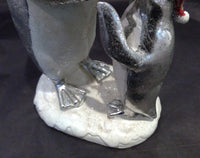 Silver & White Mother and Child Penguin (CLEARANCE)