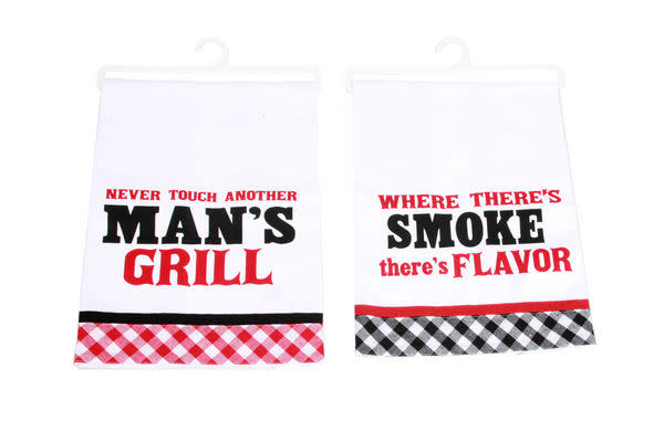 Cotton BBQ SAYINGS Dish Towels (assorted)