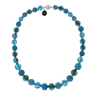 Aztec Blue Magnet Necklace