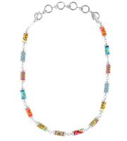 South Beach Tube Necklace (silver)